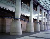 """Serpentine"" commission work for Nakanoshima Mitsui Building, Osaka, 2002,<br>13.2 x 2000 x 12.7 cm, LED etc."