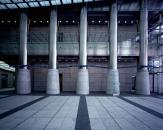 """Serpentine"" commission work for Nakanoshima Mitsui Building, Osaka, 2002, <br>13.2 x 2000 x 12.7 cm, LED etc."