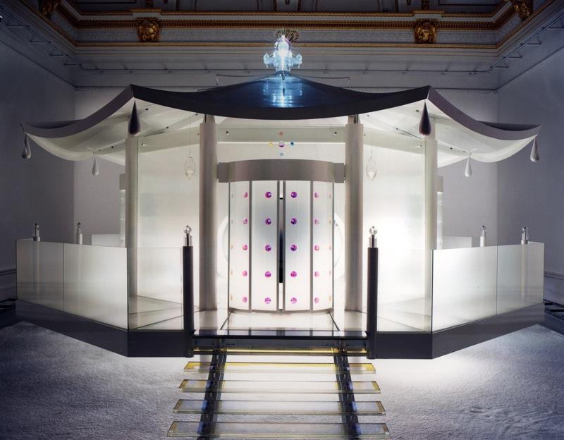 """""""Dream Temple"""", 1997-1999,  ed. 2 + 1AP, h. 500 x diam. 1000 cm, <br>Audio, metal, glass, plastic, fiber optics, vision dome"""