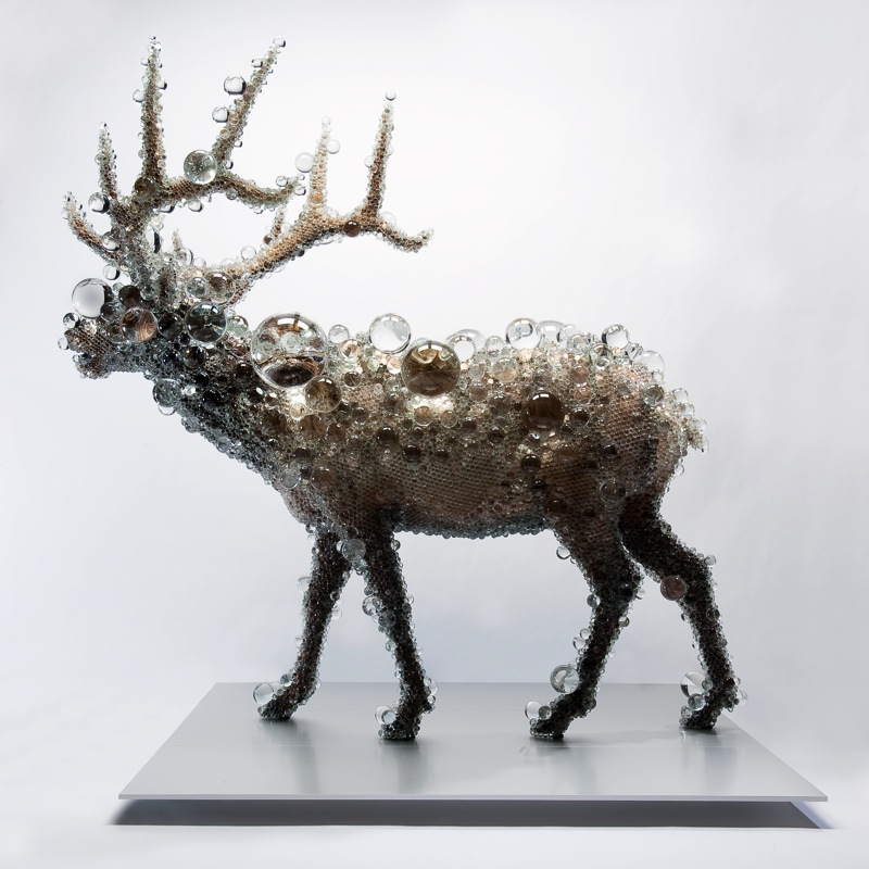 &quot;PixCell-Elk#2&quot;, 2009, 240 x 249.5 x 198 cm, mixed media, <br>Work created with the support of Fondation d'entreprise Hermès, <br>Photo by Seiji Toyonaga