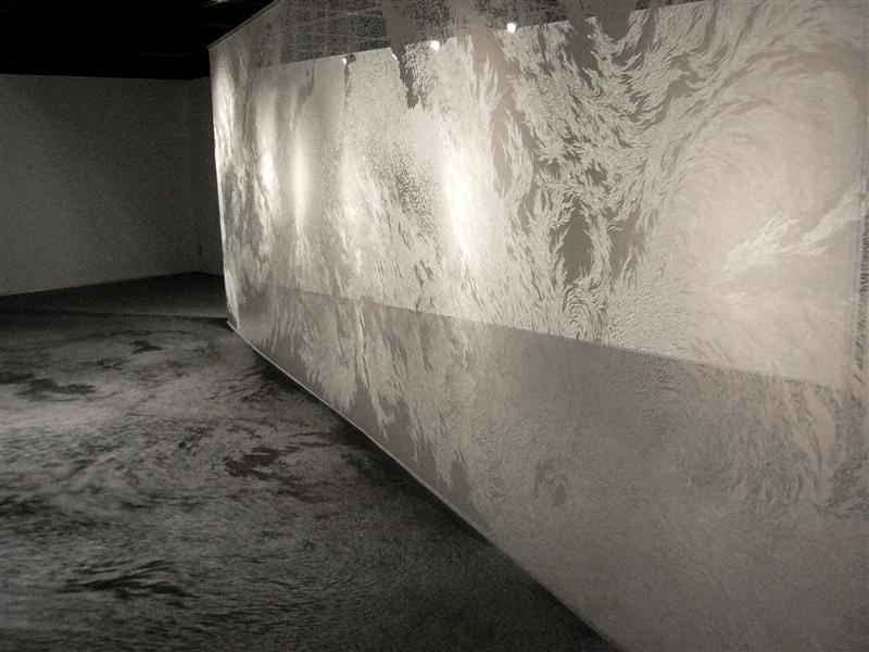 """""""breathing wall"""", 2006, h. 240 × w.750 cm"""
