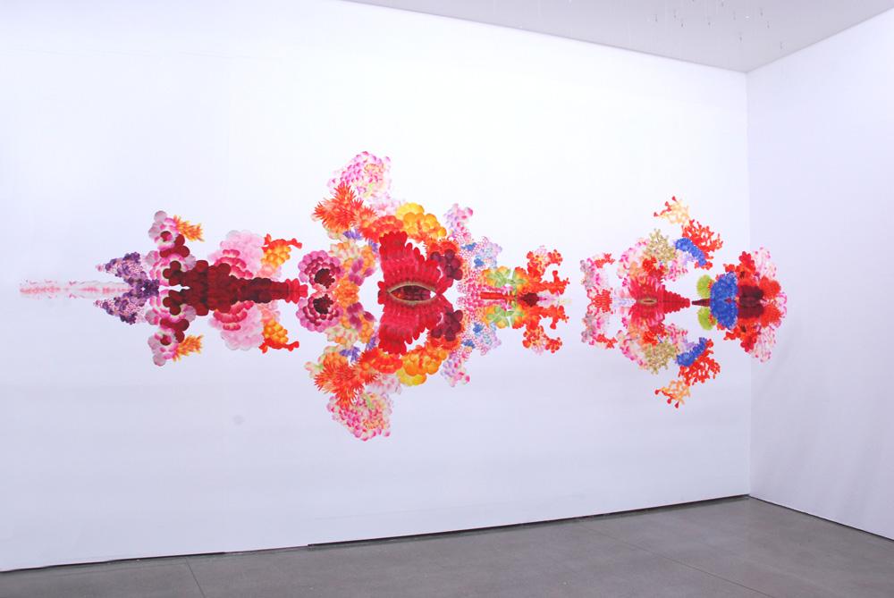 """""""reflectwo"""", 2008, installation view """"When Lives Become Form : Dialogue with the Future - Brazil, Japan"""" Museu de Arte Moderna de São Paulo (MAM), Brasil"""