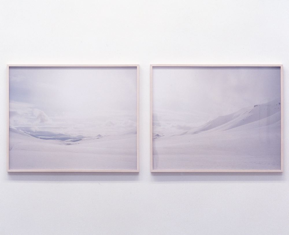 """""""Svalbard / NORWAY #1・2"""", 2007, C-print , each. 73 x 90 cm (image size) , each. 76 x 93 x 3.8 cm (frame size) , Edition of 10+AP"""