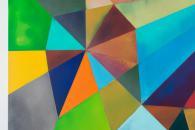 """Plane_Phoenix"", 2014, acrylic on cotton, 200 x 320 x 4.5 cm (detail)"