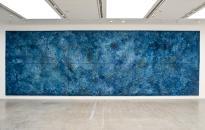 """Organic Blue "" 2011, mixed media on canvas, 400 x 1200 cm"