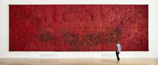 """Pangaea"" 2010, mixed media on canvas, 400 x 1200 cm"