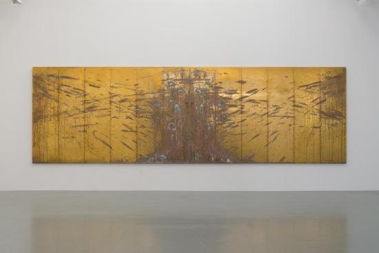 """VANITAS"", 2015, MDF Panel, brass, h. 185 x w. 600 x d. 3.5 cm"