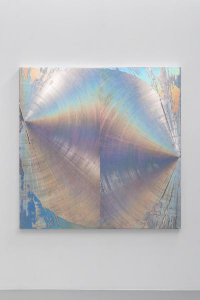 """""""M""""、2016、180 x 180 x 4.5 cm 、アクリル、綿布、パネル"""