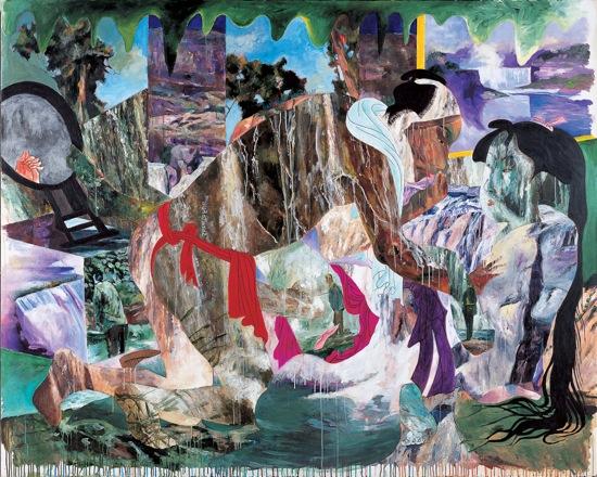 「宇宙的狂気愛」 1991年 181.7 x 227.3 cm カンバスにアクリル