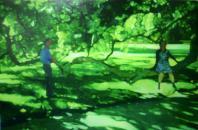 untitled 2006 パネルに綿布、油彩 160×240cm