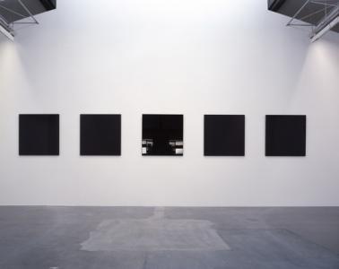 "Atsushi Saga ""repose / 001 - 005"", 2007, 90 x 90 x 2.3 - 3.9 cm, MDF, urethane coat"