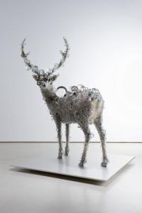 """""""PixCell-Deer#23"""", 2010, h.216 x w.187 x d.150 cm, photo by Seiji Toyonaga"""