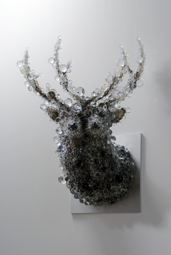 """PixCell-Double Deer"", h.142 x w.78 x d.71 cm, 2010, photo by OMOTE Nobutada"