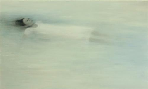 """Floating"", 2008, oil on canvas, 150 x 250 cm"