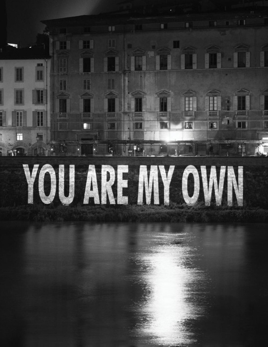 You Are My Own, 1996  © 2006 Jenny Holzer,member Artists Rights Society (ARS), NY / SPDA, Japan