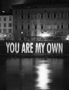 You Are My Own, 1996 © 2006 Jenny Holzer,member Artists Rights Society (ARS), NY / SPDA, Japan