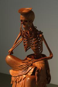 「彌勒菩薩半跏思惟像」、2008-9、125 x 58 x 82 cm、Zelkova wood