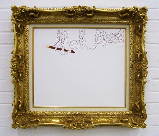 『weave』 2006 パネル、セメント、珪砂、石灰、顔料、油性メディウム 45.5×53 cm