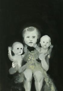 """Puppen"", 2008, oil on canvas, 250 x 200 cm"
