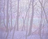 """""""UROBOROS(woods)"""", 2008, acrylic on cotton, 120 x 150 cm"""