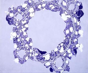 「背・円 - I 05」、2005年、キャンバスに油彩、162x194cm