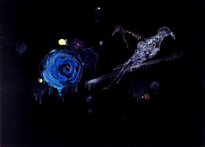 """Ruriko Shimizu """"bird"""" 2006 65.5 x 91 cm oil on canvas"""