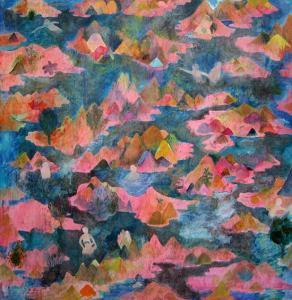 """Between HIRUKO and me"", 2008, h.145 x w.145 cm"