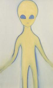 """Alien"", 2000, 198 x 118 cm, oil on canvas"