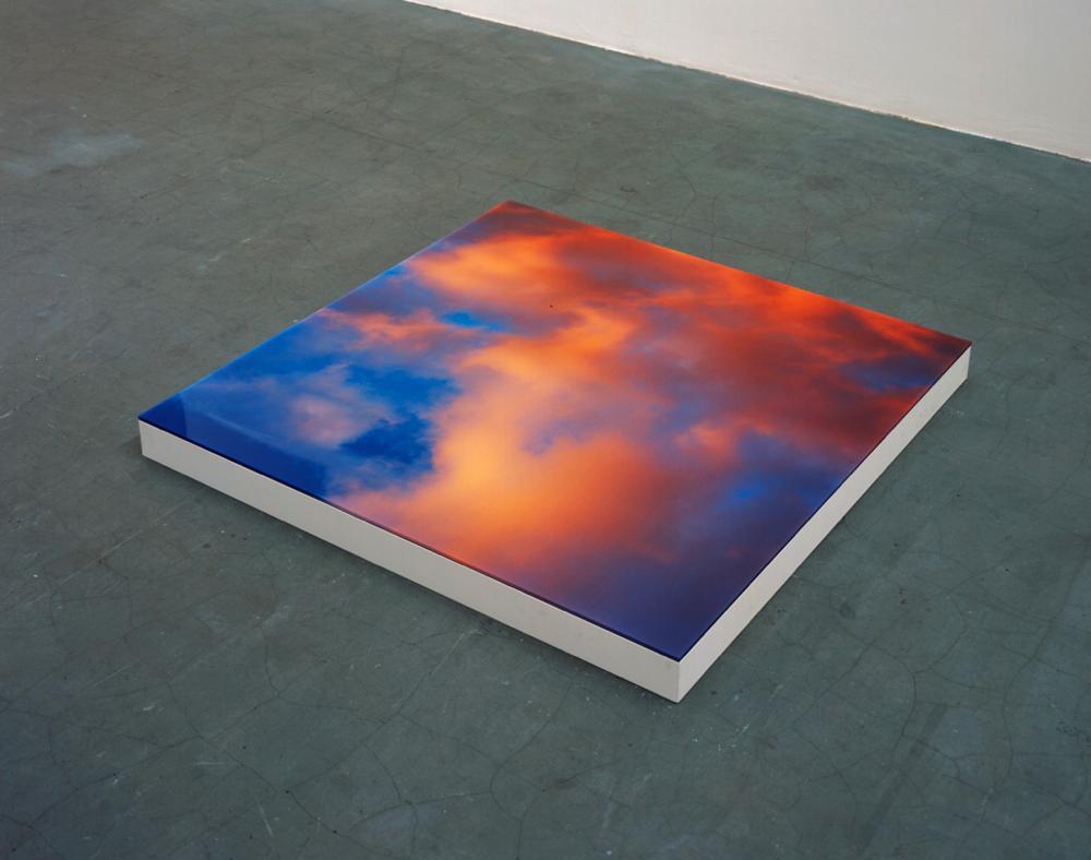 """Place #2"", 2002, 18 x 120 x 120 cm, C-print, Plexiglas, Plywood, Paint, Edition of 3"