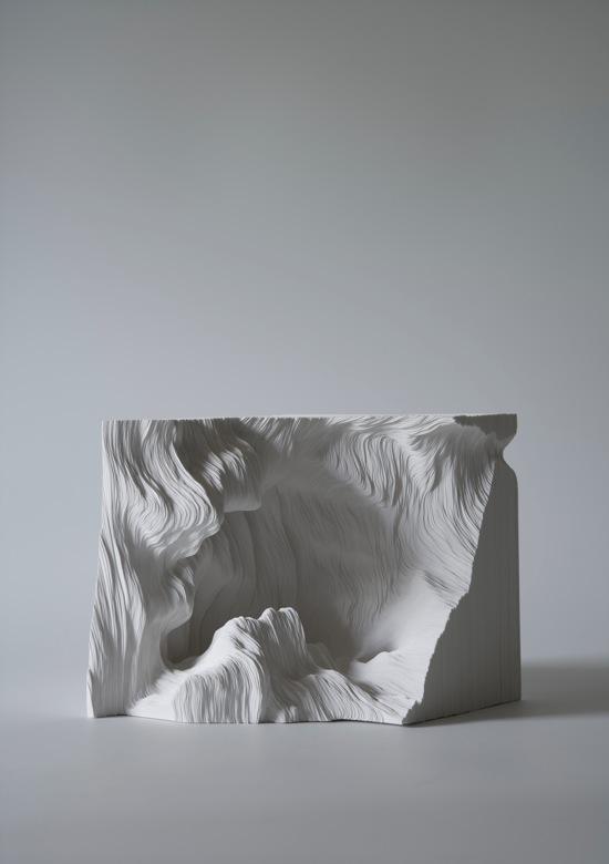 &quot;A piece of Flat Globe Vol. 4&quot;, 2008, Cut on yupo, glue, 15.2 x 22 x 15.5 cm, <br>photo : Mareo Suemasa