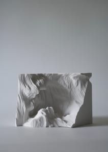 """""""A piece of Flat Globe Vol. 4"""", 2008, Cut on yupo, glue, 15.2 x 22 x 15.5 cm, photo : Mareo Suemasa"""