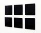 Atsushi Saga &quot;repose / 018 - 023&quot;, 2008, MDF, urethane coat, <br>45 x 45.2 - 45.9 x 3.7- 4.7 cm each, installation size 102 x 160 cm