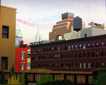 "Brian Alfred ""High Line"", 2010, Acrylic on canvas, 182.9 x 223.5 cm"