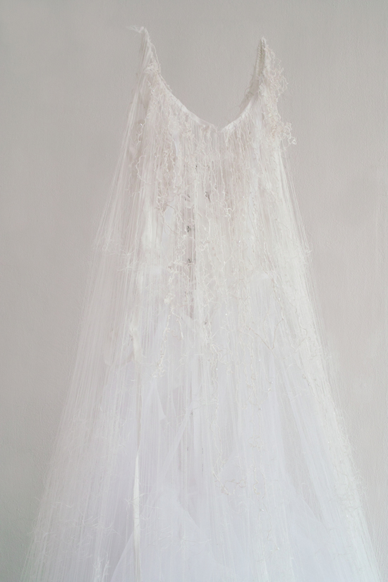 """untitled -brides- "" 2012 dimensions variable material: wedding dress"