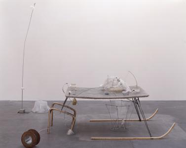 "Nobuko TSUCHIYA""Silicon SANPO Ruler,"" 2007, mixed media, 260 x 170 x 215 cmPhoto: Keizo Kioku"