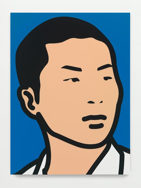 """""""_OMP2715.jpg.ai.,"""" 2014, inlaid and overlaid acrylic panel, 170 x 125 x 3.5 cm"""