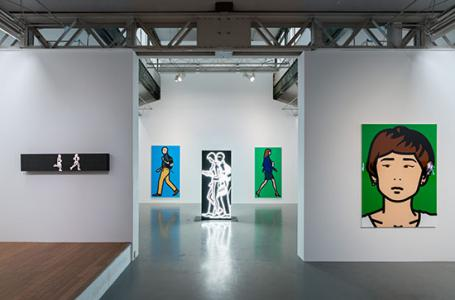 "Julian Opie ""Street Portraits"" 2014, SCAI THE BATHHOUSE photo by : Nobutada Omote"