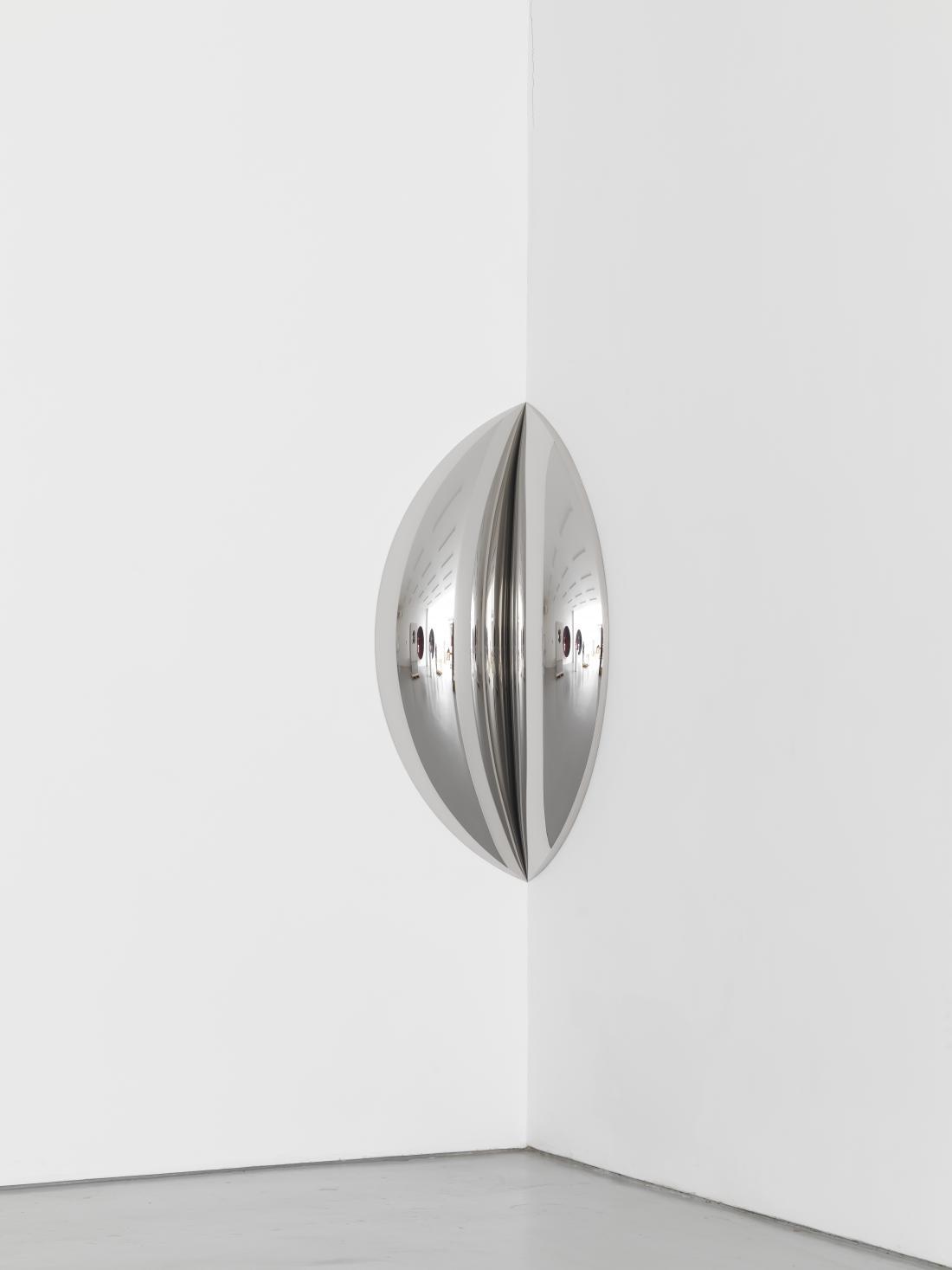<i>Clip</i>, 2016, Stainless steel, 150 x 75 x 41 cm