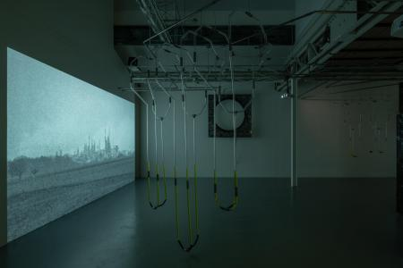 """Anne-Charlotte Finel, Enzo Mianes, Anne-Charlotte Yver""""Reciprocal Reliance"""" curated by Curate It Yourself, 2019, SCAI THE BATHHOUSE photo by Nobutada Omote"""