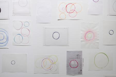 "Jeppe Hein, ""Enso 1 - 35"",(detail), 2009, 35 drawings on paper, dimensions variable photo by Nobutada Omote"