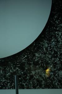 "Enzo Mianes ""Mindscape"", (detail), 2019, Plexiglass, wax, soot, 168 x 168 (cm) photo by Nobutada Omote"