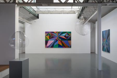 "Yusuke Komuta ""Color Unfolds"" 2013, SCAI THE BATHHOUSE photo by Nobutada Omote"