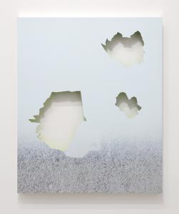 """Nathan Hylden, """"untitled"""", 2019, Acrylic on aluminum, 78.5 x 64.5 (cm) photo by Kei Miyajima"""