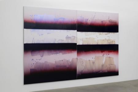 """Nathan Hylden, """"untitled"""", 2014, Acrylic on polyurethane on canvas, 239 x 342 (cm) photo by Nobutada Omote"""