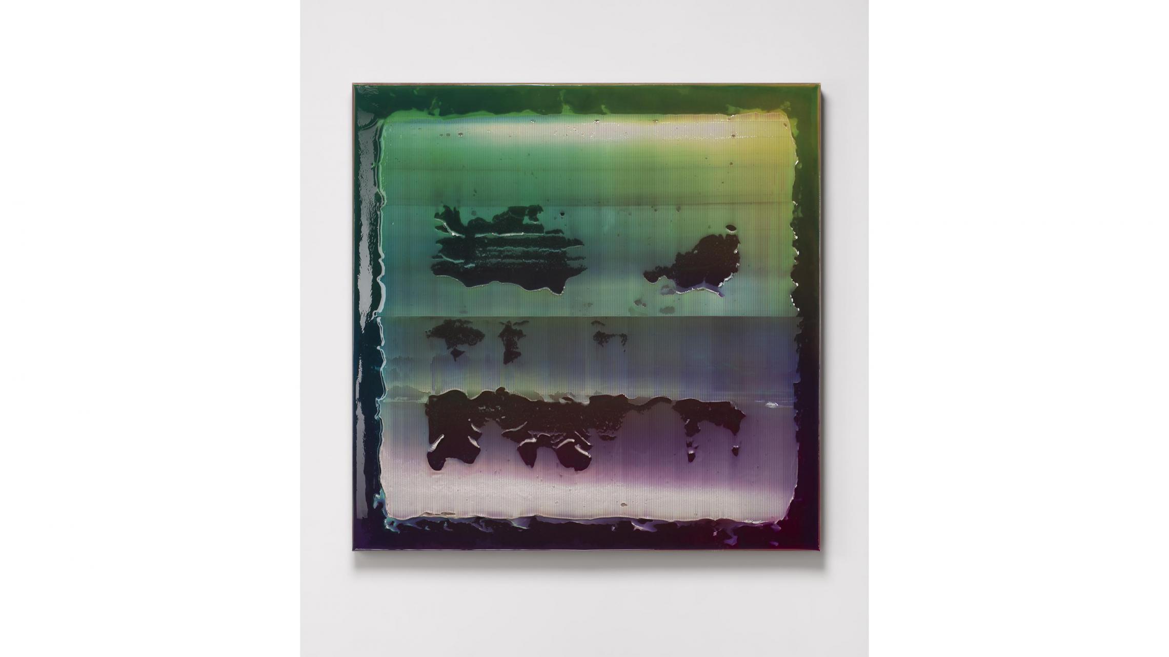 大庭大介《UNTITLED》2019、150×150×6cm、アクリル、麻布、パネル