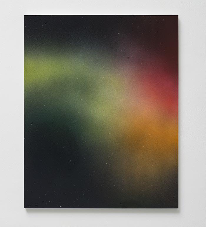 Darren Almond Timescape 03:52, 2015 Acuacryl and gouache on aluminium 75 x 60 cm