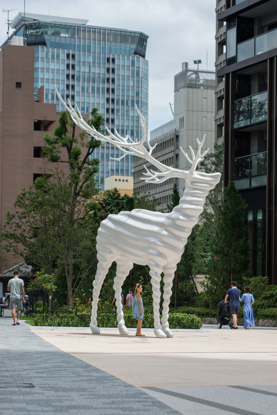 Terrace White Of Scai The Bathhouse Projects Kohei Nawa White Deer